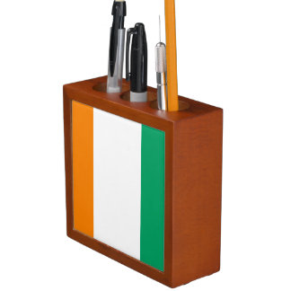 Ivory Coast Flag Desk Organizer