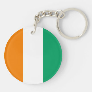 Ivory Coast Flag Double-Sided Round Acrylic Keychain