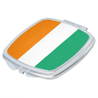 Ivory Coast Flag Makeup Mirrors