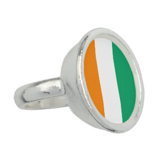 Ivory Coast Flag Photo Rings