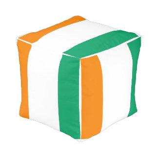 Ivory Coast Flag Pouf