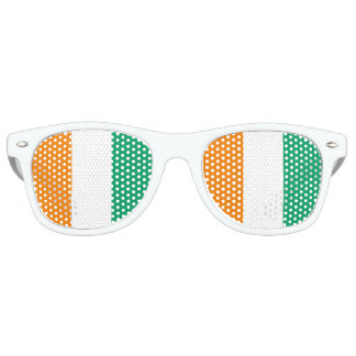 Ivory Coast Flag Retro Sunglasses