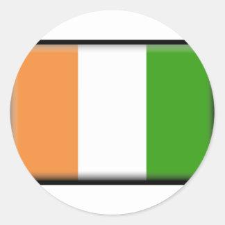 Ivory Coast Flag Round Sticker