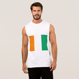 Ivory Coast Flag Sleeveless Shirt