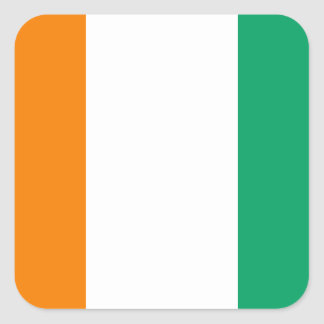 Ivory Coast Flag Square Sticker