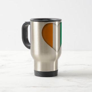 Ivory Coast Flag Travel Mug