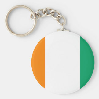 Ivory Coast National World Flag Basic Round Button Keychain