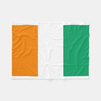 Ivory Coast National World Flag Fleece Blanket