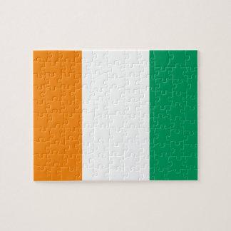 Ivory Coast National World Flag Jigsaw Puzzle