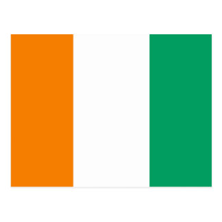 Ivory Coast National World Flag Postcard
