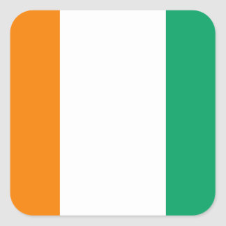 Ivory Coast National World Flag Square Sticker
