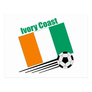 Ivory Coast Soccer Team Postcard