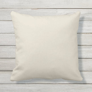 Ivory Cream Solid Accent Outdoor Pillow