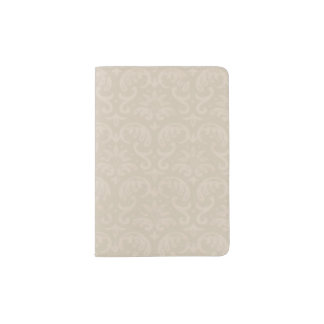 Ivory Damask Passport Holder
