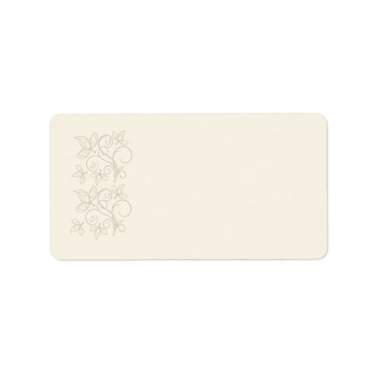 Ivory Floral Address Label
