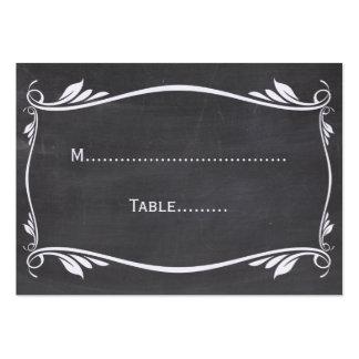 Ivory Flourish Chalkboard Place Card Business Card Template