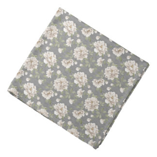 Ivory Flower Pattern Bandana