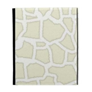 Ivory Giraffe Animal Print iPad Folio Cases