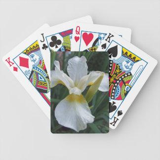 Ivory Iris Poker Deck