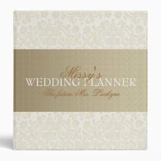 Ivory Lace Wedding Planner Vinyl Binders