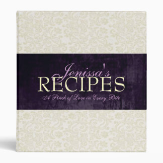 Ivory Lace with Ribbon Recipe Binder