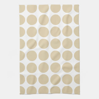 Ivory Neutral Dots Kitchen Towel