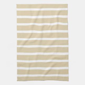 Ivory Neutral Stripes Kitchen Towel
