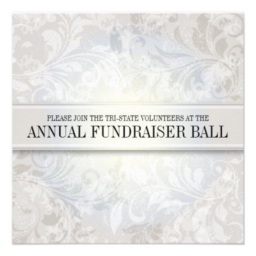 Ivory Paisley Swirl Event Custom Announcement