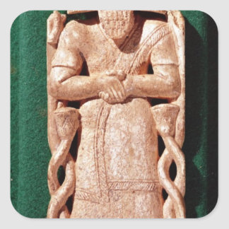 Ivory plaquette of a god square sticker