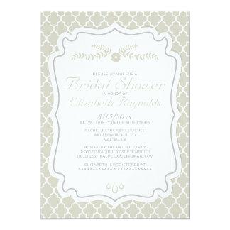 Ivory Quatrefoil Bridal Shower Invitations