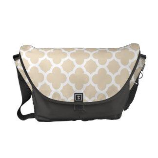 Ivory Quatrefoil Trellis Pattern Messenger Bags