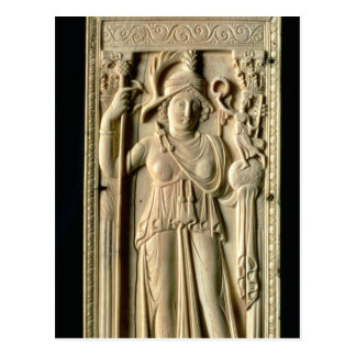 Ivory relief tablet postcard