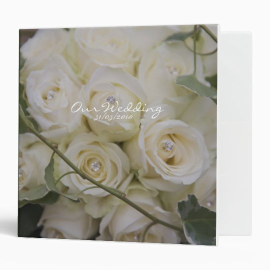 Ivory rose Bouquet Avery Binder
