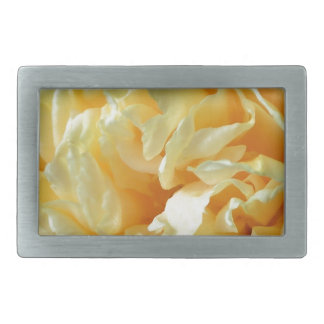 Ivory Rose Rectangular Belt Buckle