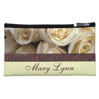 Ivory Roses Cosmetic Bag