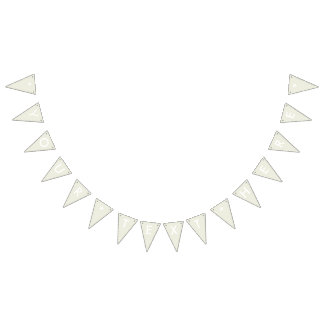 Ivory Solid Color Customize It Bunting Flags