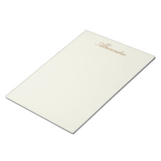 Ivory Solid Colour Customize It Notepad