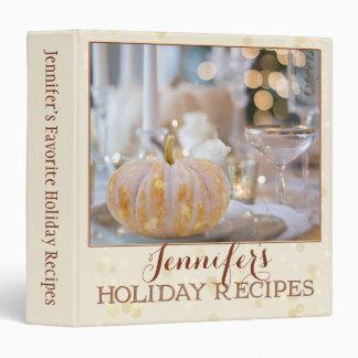 Ivory Sparkling Photo Holiday Recipe Binder