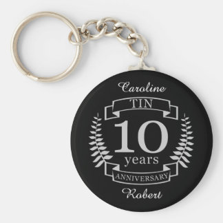 Ivory Traditional wedding anniversary 10 years Keychain