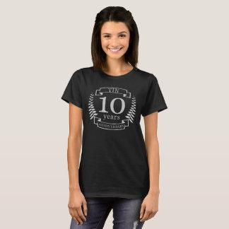 Ivory Traditional wedding anniversary 10 years T-Shirt