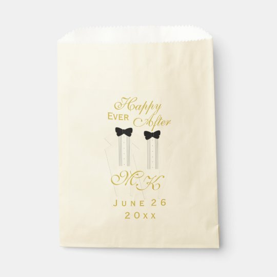 Ivory Tuxedo Wedding Happy Ever After Favour Bag