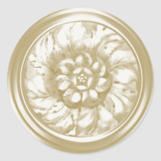 Ivory Vintage Baroque Embossed Look Seal