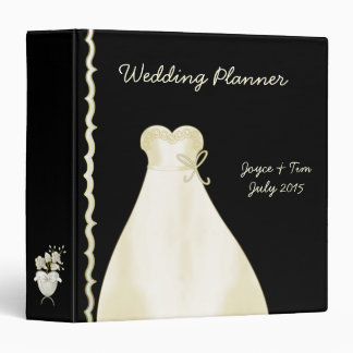 Ivory Wedding Dress and Border Planner Binder