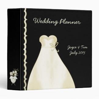 Ivory Wedding Dress and Border Planner Binder