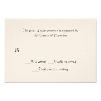 Ivory Wedding Response Card