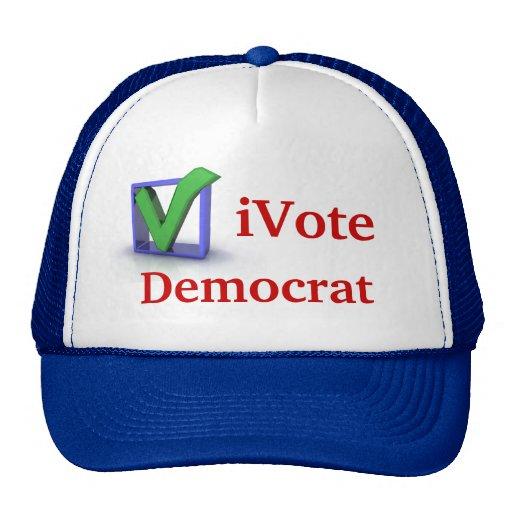 iVote Democrat Cap Mesh Hats