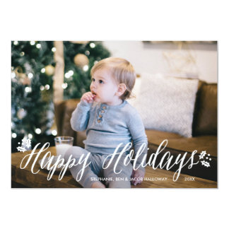Ivy and Berries Holiday Photo Card