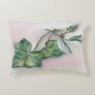 Ivy and Holly Christmas Accent Pillow