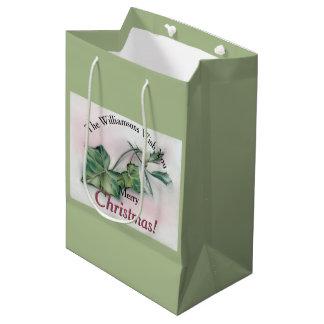 Ivy and Holly Christmas Medium Gift Bag