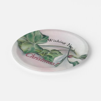 Ivy and Holly Christmas Paper Plate